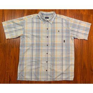 Patagonia Organic Cotton Shirt Plaid Blue XL